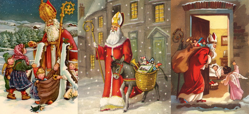 St Nicholas Day is celebrated on December 6th and traditionally this is when children left shoes out and received small treats from this historical saint